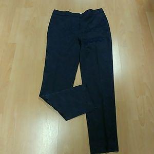 Chico's Ink Jacquard Print Trouser Pant